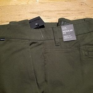 Hurley Mens One and Only Olive Pants sz 40x32 42x32 44x32 NWT 40 42 44